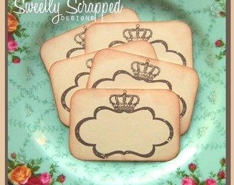 "Crown Cards, Vintage Inspired, Labels, 2"" x 3"""
