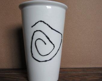 True Detective Spiral Coffee Cup Black Spiral 3D