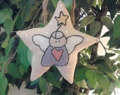 Handmade, Primitive, Christmas, Holiday, Angel, Ornament