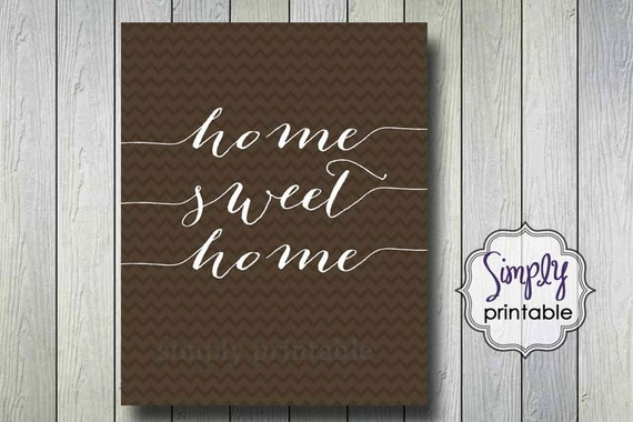 Home Sweet Home Printable Wall Print (8x10)