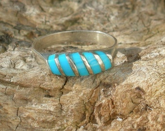 Sterling Silver with Turquoise  Ring size 6 1/2