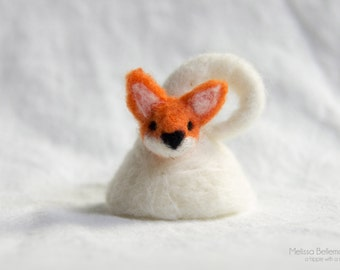 Needle Felted Ring: Fox - Adult or Child Adjustable sizes