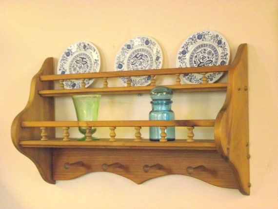 Wood Coat Rack Plate Display Shelf Tea Cup Amp Saucer