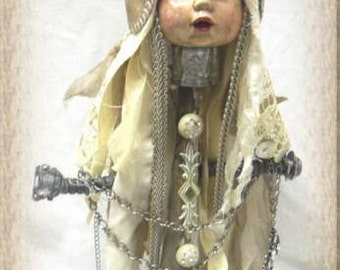 Art doll, repurposed, recycled, assemblage,altered, shabby chic,