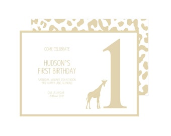 Golden Safari Party Invitation : By Bloom Designs