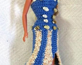 Barbie Seaside Gown Asymmetrical Dress