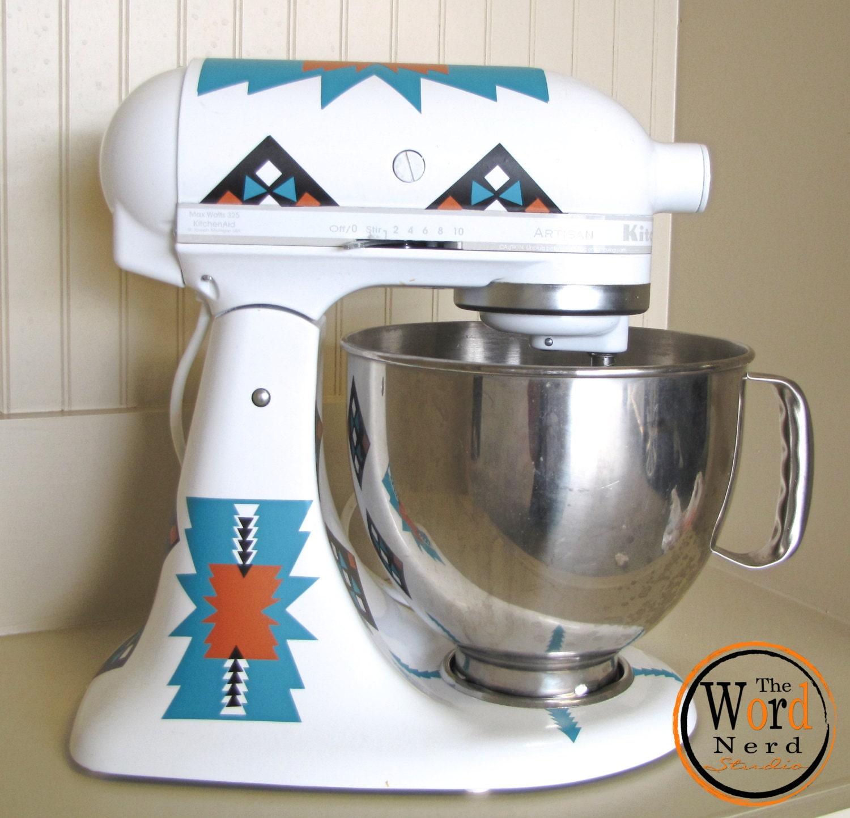 Kitchen Mixer Decals ~ Kitchen aid mixer decals southwestern rustic by