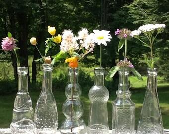 20 Glass Bottles Limoncello Favors Set of 20 Bottles Limoncello Bottles Olive Oil Dipping Baptism Favors Holy Water Bottles