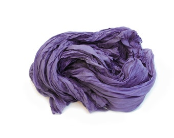 purple silk scarf - Fall Mantra -  blue purple silk scarf.