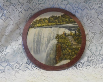Niagara Falls Souvenir 1930's Wall Hanging Enhanced Photo