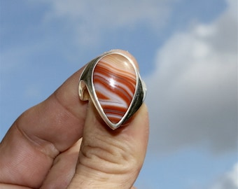 Ring in silver and stone agate