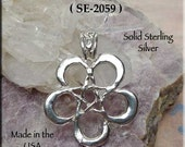 Sterling Silver Pentacle of Moons Necklace, .925 Bailed Pentagram Pendant Necklace, Wiccan Necklace Jewelry, Crescent Moon Pendant, SE2059