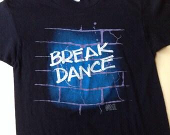 80s Vintage Break Dance Space Wear rap T-Shirt - X-SMALL