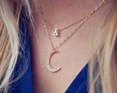 Cubic Zircornia Moon Necklace