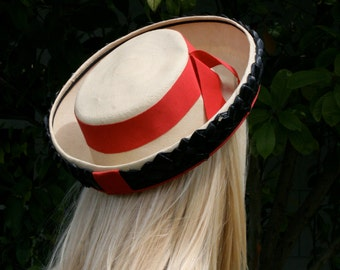 1960s School Girl Straw Hat, Cathay of California