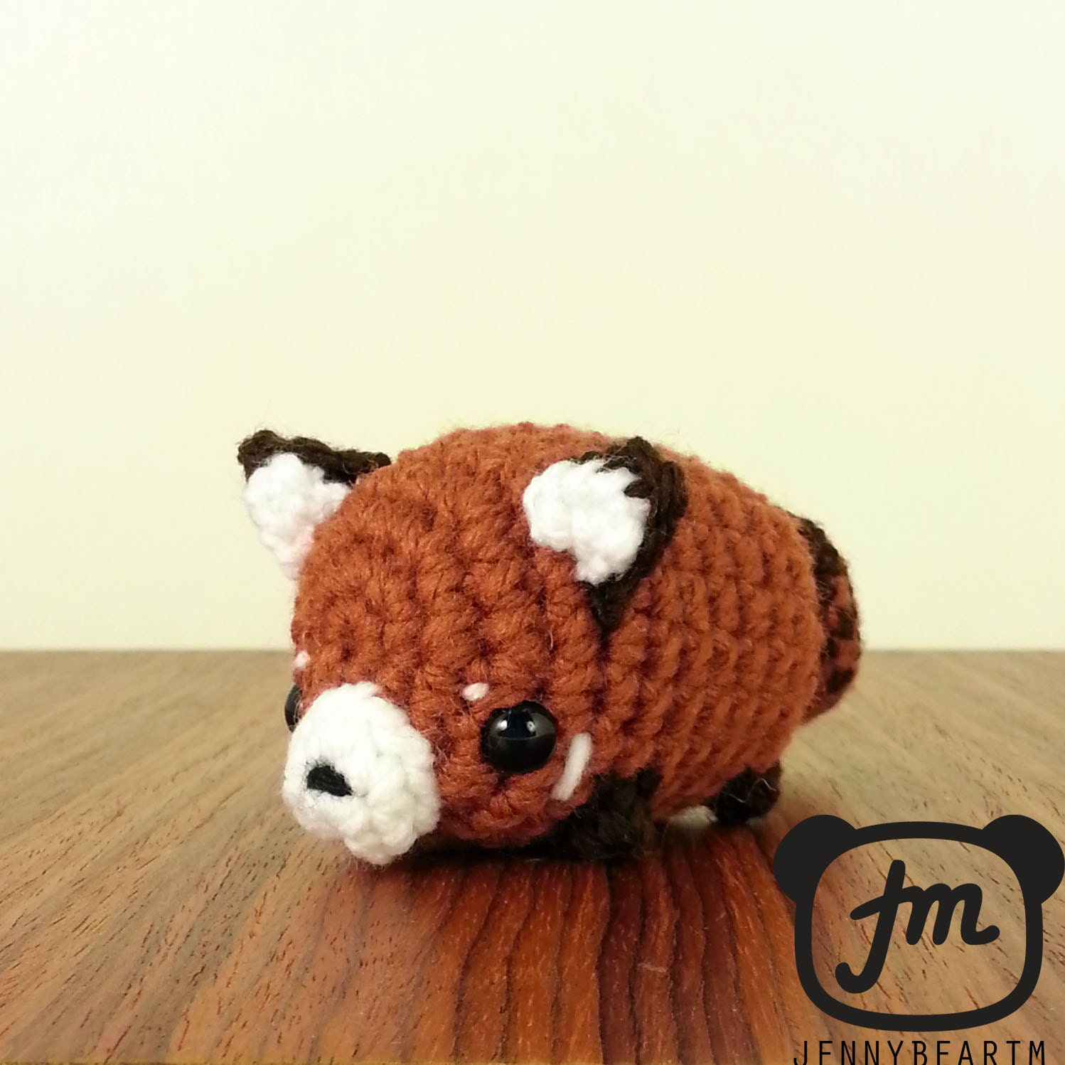 Amigurumi Red Panda : Mini Fat Red Panda Amigurumi Plush