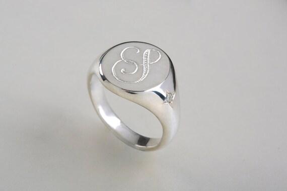 Estremamente Monogram arrotondati anello anello da mignolo con iniziali TL27