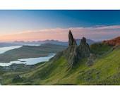 EPIC Landscape Nature Photography Print. Isle of Skye, The Storr, Scotland. Scottish Landscape Sunrise Mountain Panorama.