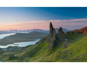 EPIC Landscape Nature Photography Print. Isle of Skye, The Storr, Scotland. Scottish Landscape Sunrise Mountain Panorama.