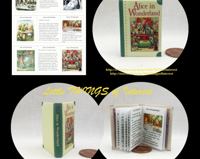 ALICE IN WONDERLAND Book 1:6 Scale Color Illustrated Lewis Carroll Barbie Scale