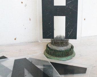 Vintage Marquee Letters Clear Black Plexi Glass Acrylic Industrial Salvage Farmhouse Decor