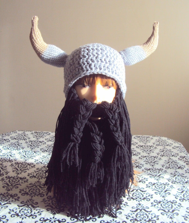 Knitted Viking Hat Viking Hat Long Beard Hat