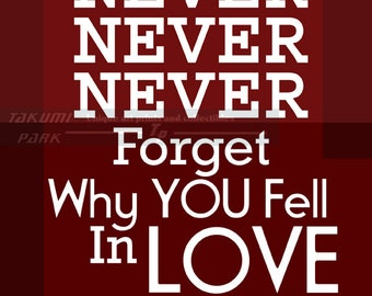 Love Quote Art, Home Decor,  Romantic Quote, Red Wall Art Print, Wedding Quote Print, Anniversary Art, Wedding Decor, Word Art, Love Picture