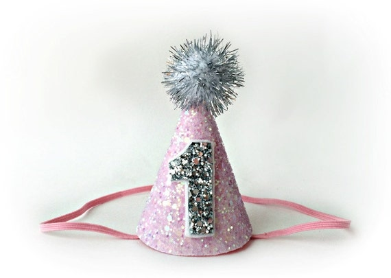 Glitter Fabric Party Hat from Etsy
