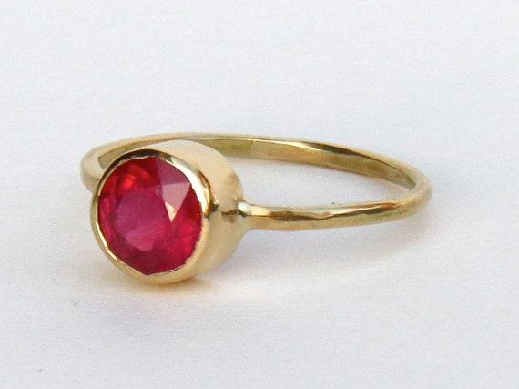 ruby ring simple ruby ring handmade ruby ring gold ring