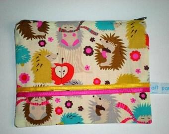 WINTER SALES 50% OFF Hedgehog zipper pouch
