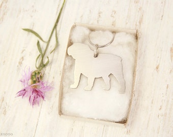 free shipping - English Bulldog Jewelry Stainless steel Pendant Necklace With Chain And Cord