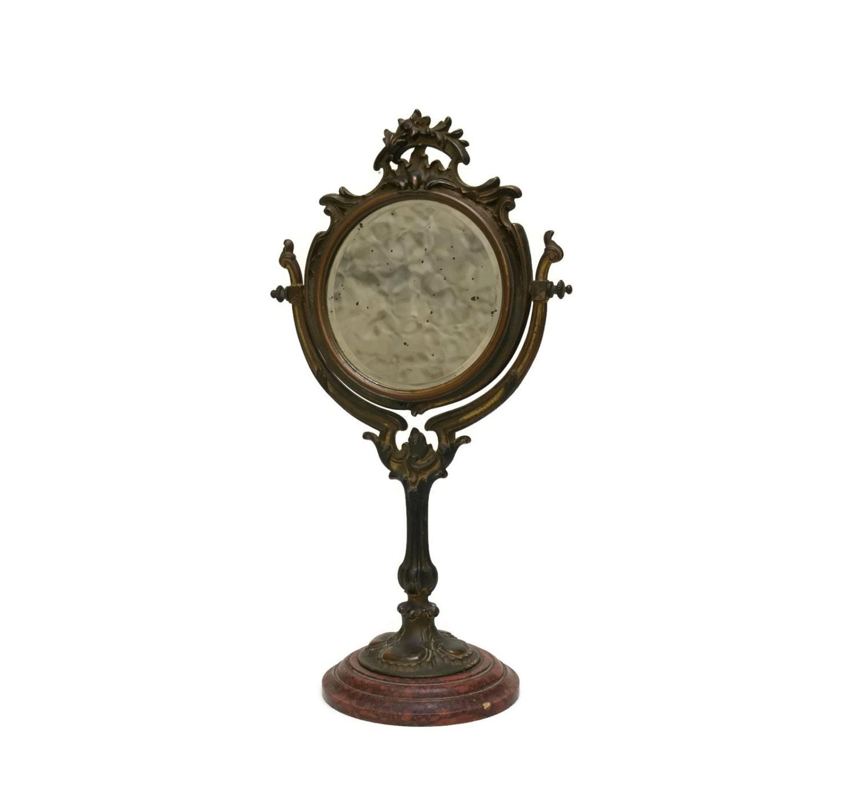 reserved for k art nouveau vanity mirror by lebonheurdujour. Black Bedroom Furniture Sets. Home Design Ideas