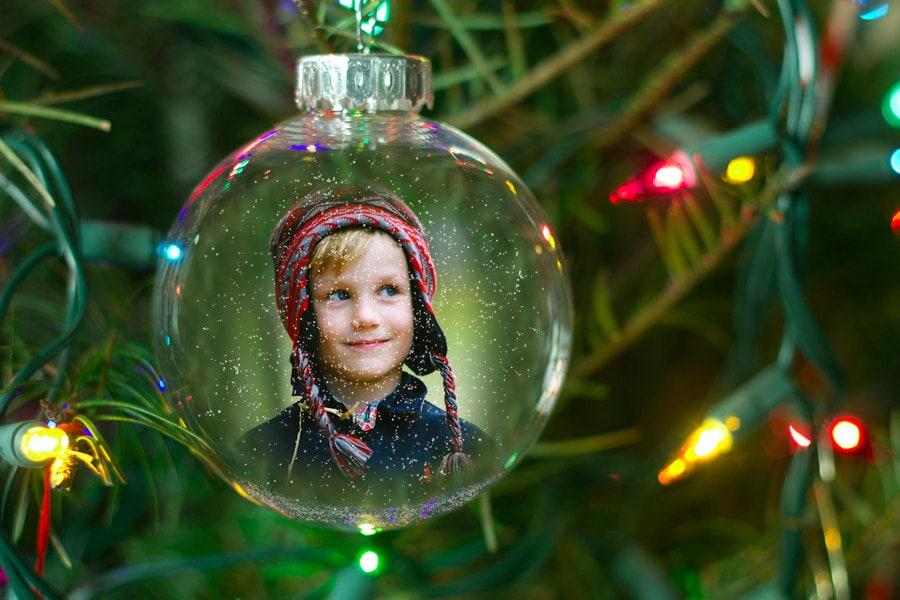Christmas ornament template photoshop card photography snow for Photoshop christmas