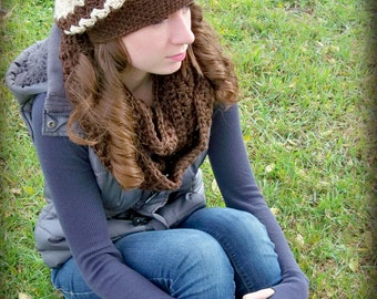 Crochet Sarah slouch hat for toddler child teen & adult woman
