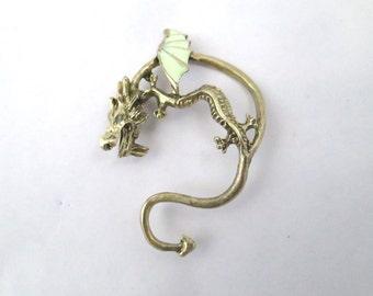 Glow in the dark dragon ear cuff
