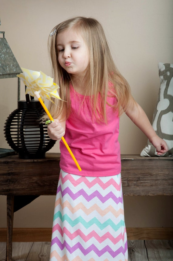 toddler chevron maxi skirt