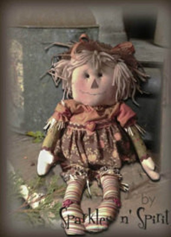 "Pattern: Sally - 17"" Scarecrow Girl Rag Doll"