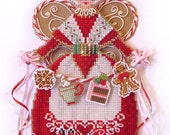 Brooke's Books Spirit of Mrs. Claus Angel Ornament Cross Stitch Chart Only