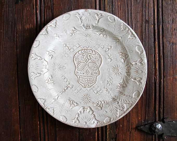 Papel Picado Dinner Plate with Skull