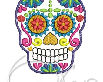 MACHINE EMBROIDERY FILE - Sugar skull, Calavera