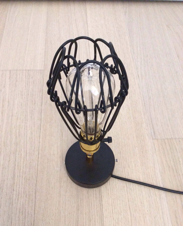 Retro Industrial Style Lighting Wire Cage Edison Wall By JbFARM
