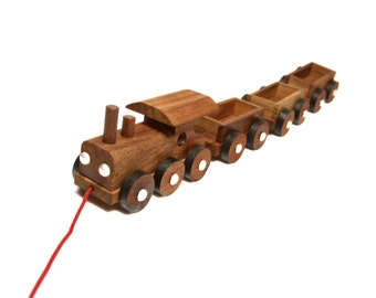 Wooden Train Toy, Kids Toy, Pull Toy, Collection Kids, Natural Kids Toy, 100% Handmade