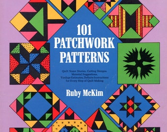 101 Patchwork Patterns by Ruby McKim (quilting patterns)   Dover Books   Craft Book   Quilting Templates