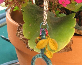 Charms magnification  glass charm on chain.  Multiple hand painted charms  with this magnifying piece that works,