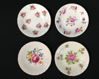 Vintage Adderley Bone China Butter Pat Set 1960s #082
