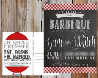 ENGAGEMENT BBQ Postcard - Digital - Customizable