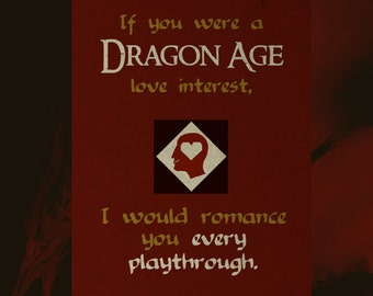 Dragon Age Love Note