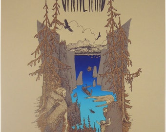 Graveyard Gig Poster - Limited to 89pcs, 4 color silkscreen print, signed and numbered.