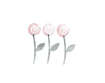Flower + Stem Stamp Set by tripolo