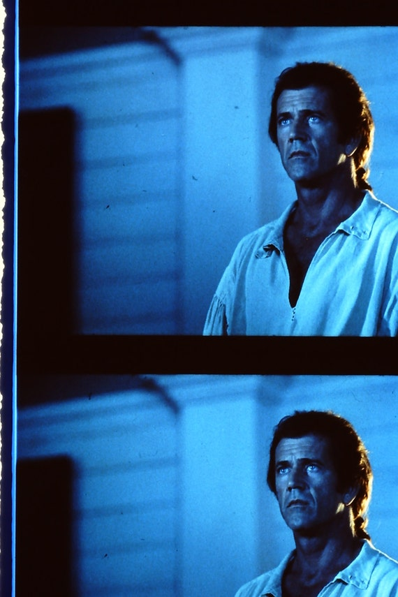 The Patriot - Mel Gibson Heath Ledger - 1 Strip of 5 35mm Unmounted film cells ONLY 1 STRIP AVAILABLE of each film cell